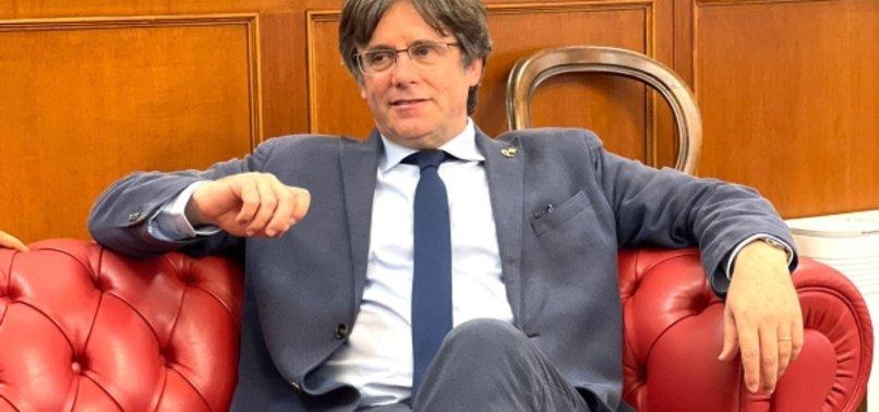 RELEASED CATALAN SEPARATIST PUIGDEMONT MEETS SARDINIAN POLITICIANS