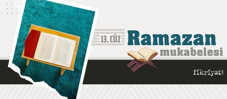Ramazan mukabelesi Kur'an-ı Kerim hatmi 13. cüz