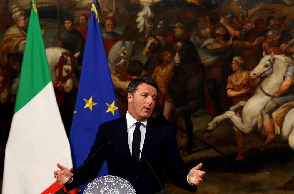 Italian Prime Minister Matteo Renzi speaks during a media conference after a referendum on constitutional reform at Chigi palace in Rome, Italy, Dec. 5. (Reuters)