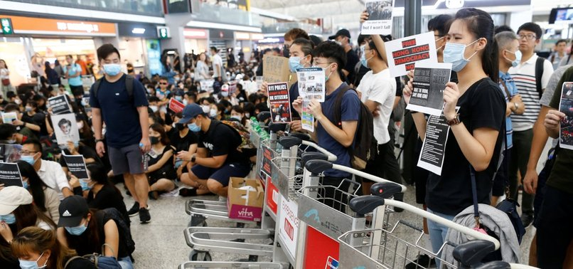 FLIGHTS OUT OF HONG KONG CANCELED AGAIN AMID ANTI-GOVERNMENT PROTESTS