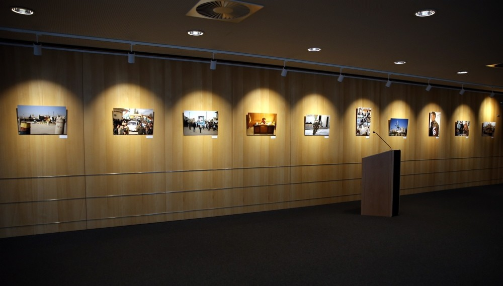 The exhibition openly displays armed militants linked to the PKK.
