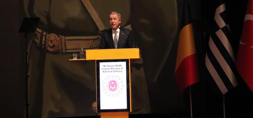 TURKEY ONLY NATO MEMBER THAT FOUGHT DAESH/ISIS: DEFENSE MINISTER HULUSI AKAR