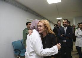 Lindsay Lohan Suriyeli mültecileri ziyaret etti