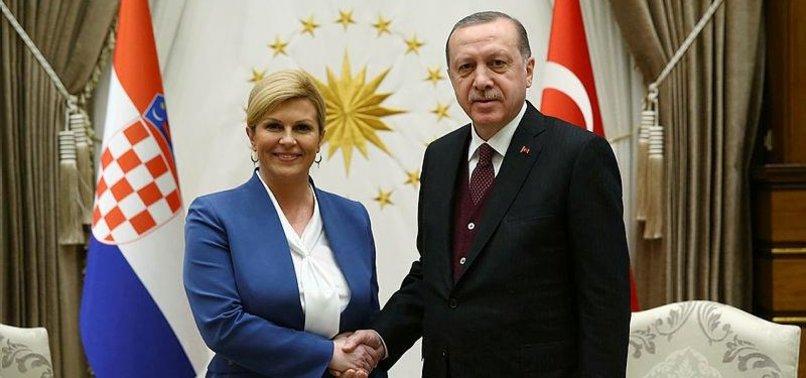TURKISH, CROATIAN PRESIDENTS MEET IN ANKARA
