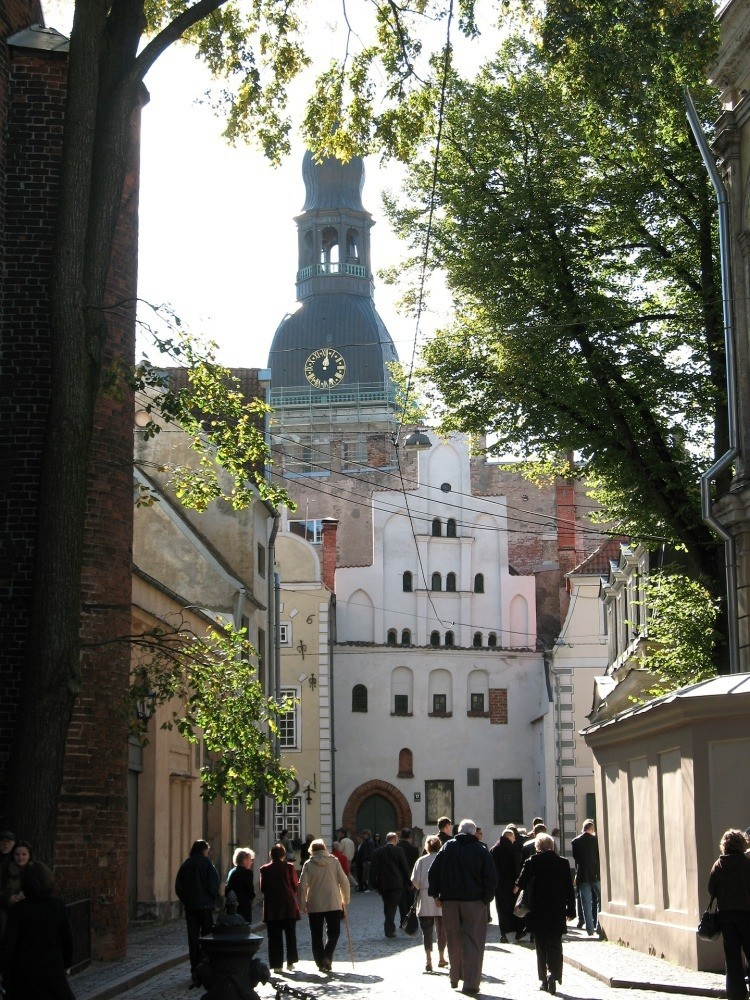 A street in Latvia
