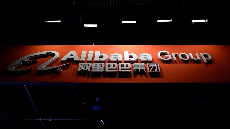 An Alibaba Group sign is displayed at the its booth at CES 2017 at the Las Vegas Convention Center on January 5, 2017 (AFP Photo)