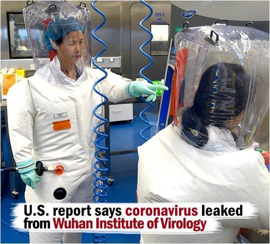 U.S. report says coronavirus leaked from Chinese lab