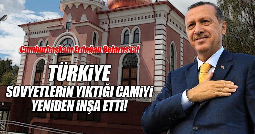 Cumhurbaşkanı Recep Tayyip Erdoğan Minsk Camii'ni açtı