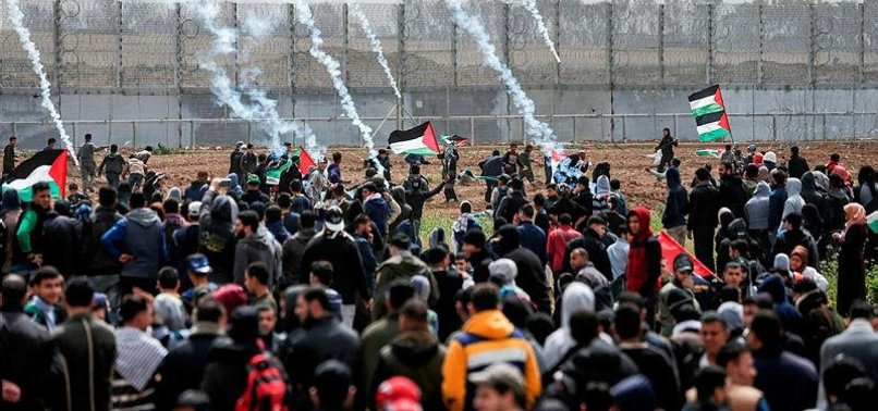 GAZANS FLOCK TO BUFFER ZONE FOR 58TH WEEK OF PROTESTS