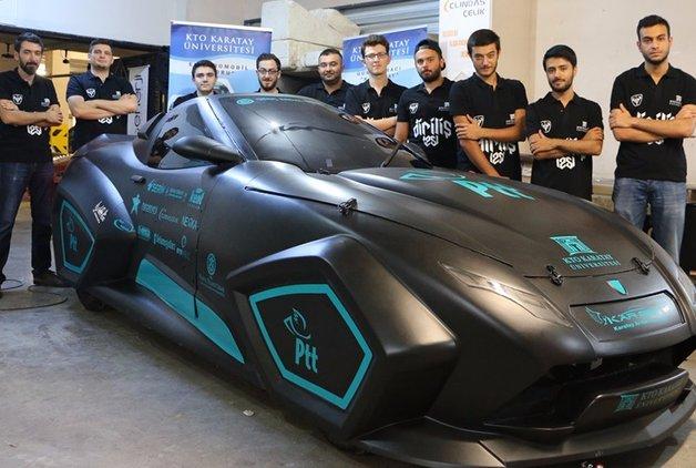 Üniversite öğrencileri elektrikli otomobil üretti