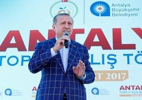 Cumhurbaşkanı Erdoğan Antalya toplu açılış töreninde konuştu