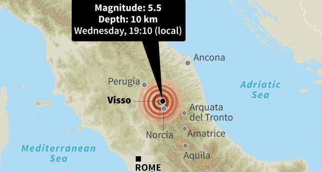2 strong quakes rattle Italy, 2 injured so far