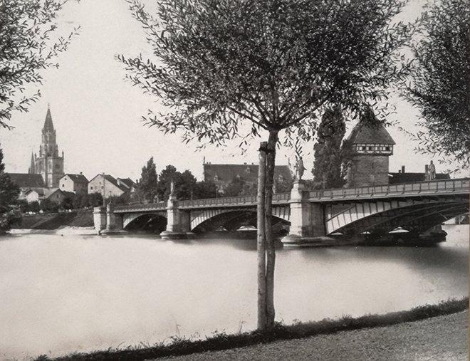 Konstanz şehrinde Ren Nehri