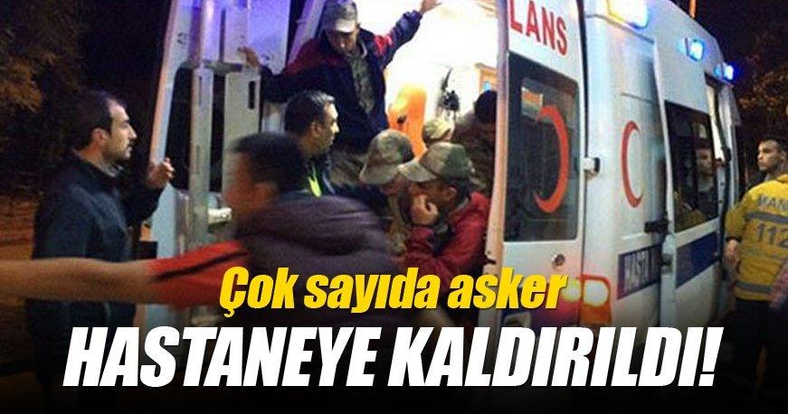 Manisa Kırkağaç'da çok sayıda asker hastaneye kaldırıldı