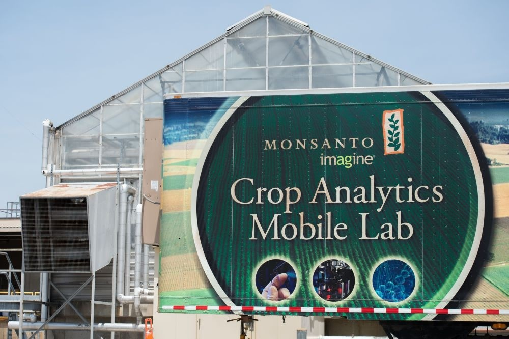 A building is viewed on the campus of Monsanto Headquarters in St. Louis, Missouri.