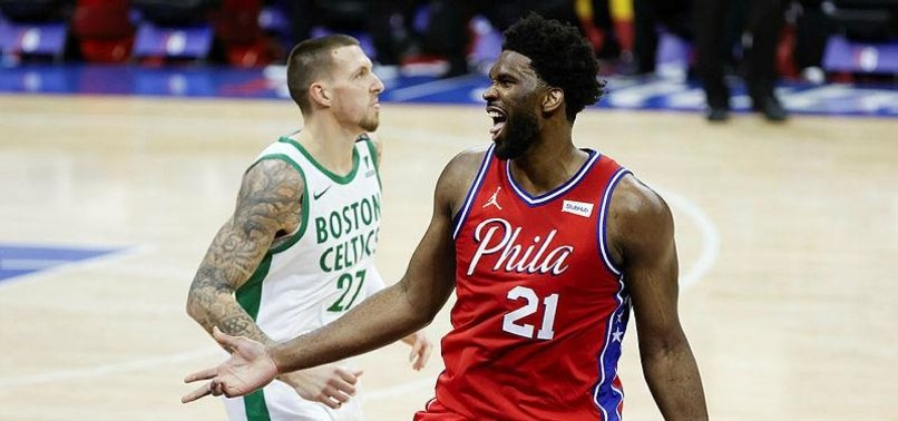 JOEL EMBIID LEADS PHILADELPHIA 76ERS PAST BOSTON CELTICS