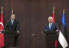 Başbakan Yıldırım, Juri Ratas ile basın toplantısı gerçekleştirdi