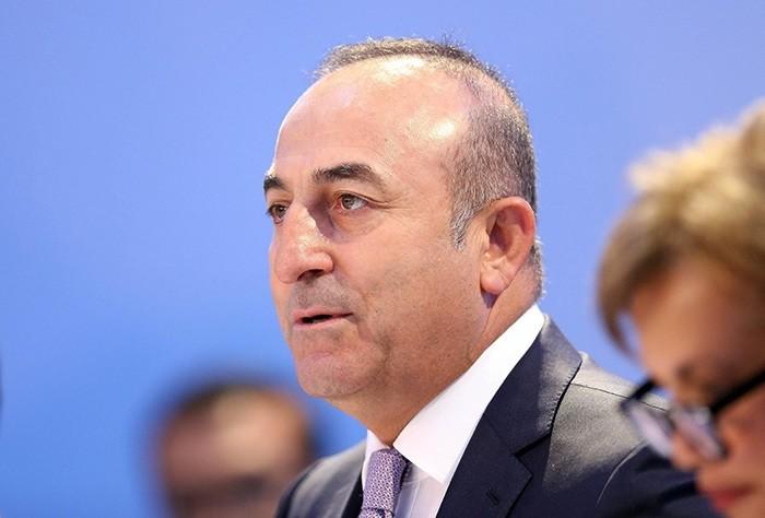 Turkish Foreign Minister Mevlu00fct u00c7avuu015fou011flu (DHA Photo)