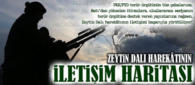 Zeytin Dalı harekâtının iletişim haritası