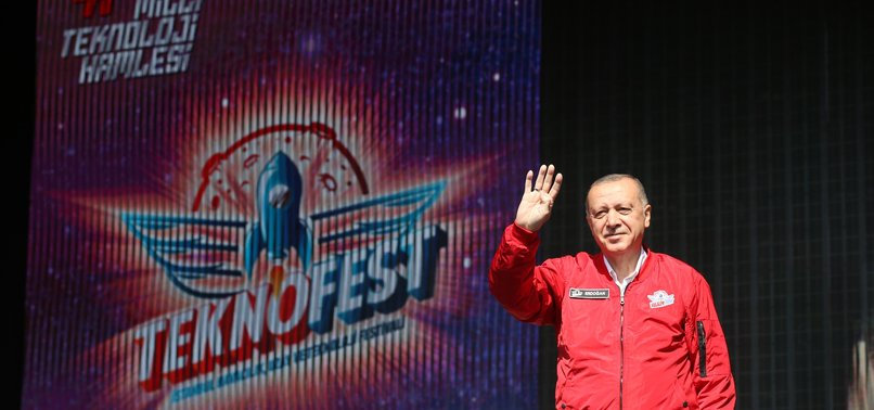 PRESIDENT ERDOĞAN ATTENDS TEKNOFEST IN ISTANBUL