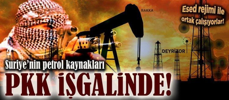 Suriyenin petrol kaynakları da PKK işgalinde!