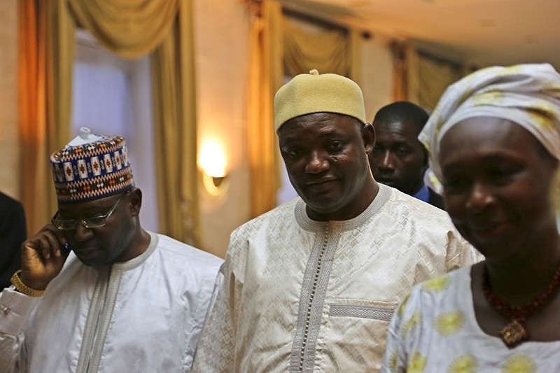 Gambia's President Adama Barrow is seen in Dakar, Senegal January 20, 2017 after a senior aide confirmed that Gambia's longtime leader Yahya Jammeh has agreed to leave power. (Reuters Photo)