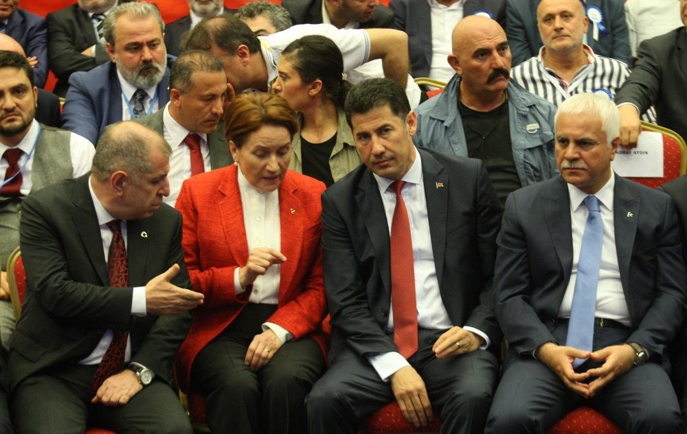 MHP dissidents from left to right: u00dcmit u00d6zdau011f, Meral Aku015fener, Sinan Ou011fan, Koray Aydu0131n. Chairman Bahu00e7eli is readying to expel the aforementioned dissidents.