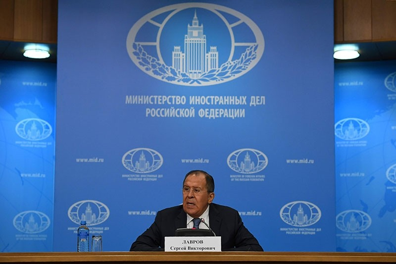 Russian Foreign Minister Sergey Lavrov speaks during his annual press conference in Moscow on January 17, 2017. (AFP Photo)
