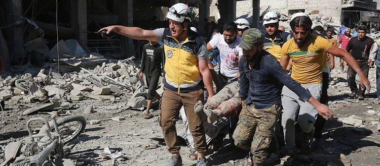 Rus uçakları İdlib'de pazar yerini vurdu: 17 ölü