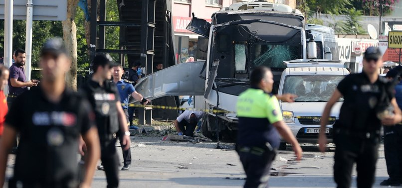 TERROR ATTACK ON POLICE BUS INJURES 5 IN TURKEYS ADANA